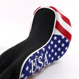 USA Flag Long Neck Sock Golf Head Cover