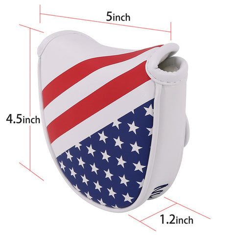 USA Flag Stars&Stripes Mallet Putter Cover (Dual Magnetic straps) - CraftsmanGolf
