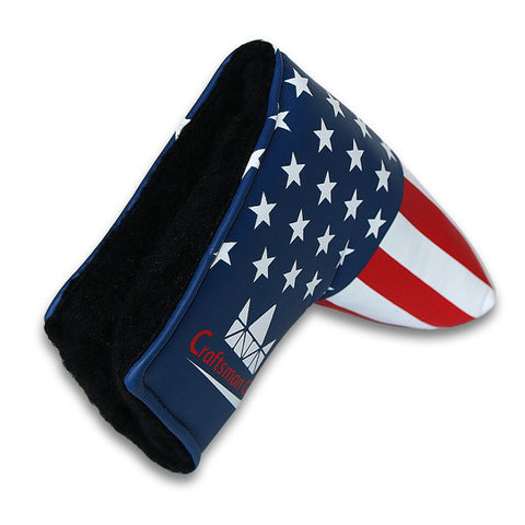USA Flag Stars and Stripes Golf Putter Head Cover