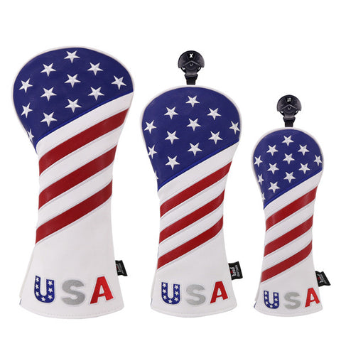 USA Red&Blue&White Golf Head Covers - CraftsmanGolf