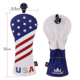 USA Red&Blue&White Golf Head Covers