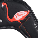 Flamingo Leather Extended Version Iron Head Cover Set - CraftsmanGolf