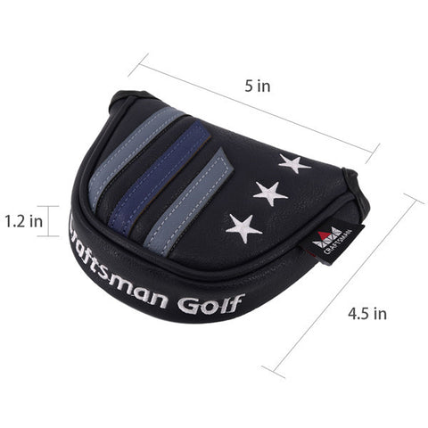 Stars&Stripes Mallet Putter Headcover(Dual Magnetic straps) - CraftsmanGolf