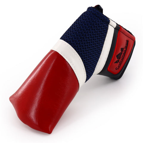 Synthesis leather & Mesh Magnetic Blade Putter Head Cover