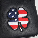 USA Flag Lucky Clover Square Mallet Putter Headcover - CraftsmanGolf