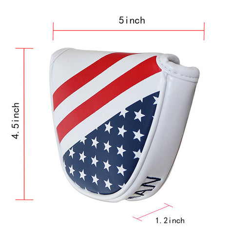 USA Flag Stars & Stripes Mallet Putter Head Cover - CraftsmanGolf