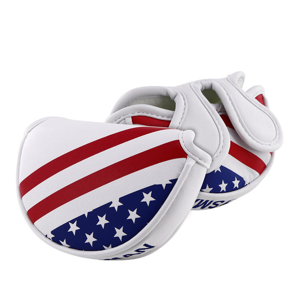USA Stars & Stripes Flag Mid-Mallet Putter Cover(Dual Magnetic straps)