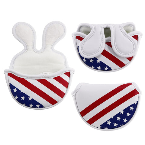 USA Flag Stars & Stripes Mid-Mallet Putter Cover(Dual Magnetic straps) - CraftsmanGolf