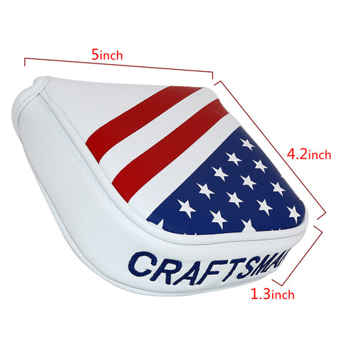 USA Flag Stars & Stripes Square Mallet Putter Cover