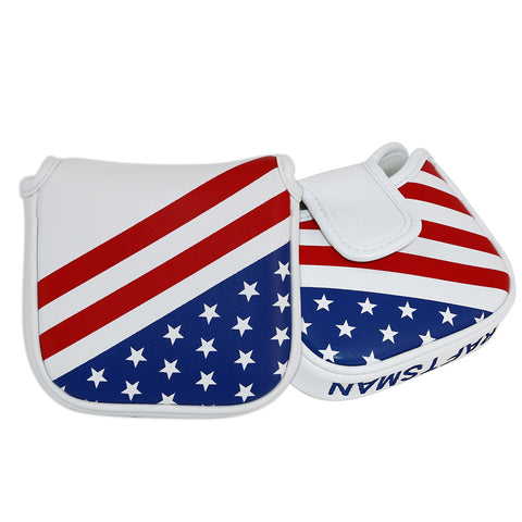 USA Flag Stars & Stripes Square Mallet Putter Cover - CraftsmanGolf
