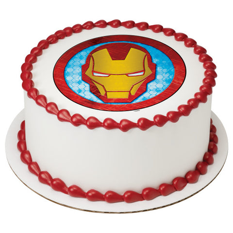 Marvels Avengers Iron Man Icon Edible Cake Cupcake Topper
