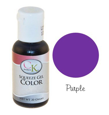 Purple Water Based Squeeze Gel Color – Rountree Bros Baking Supply