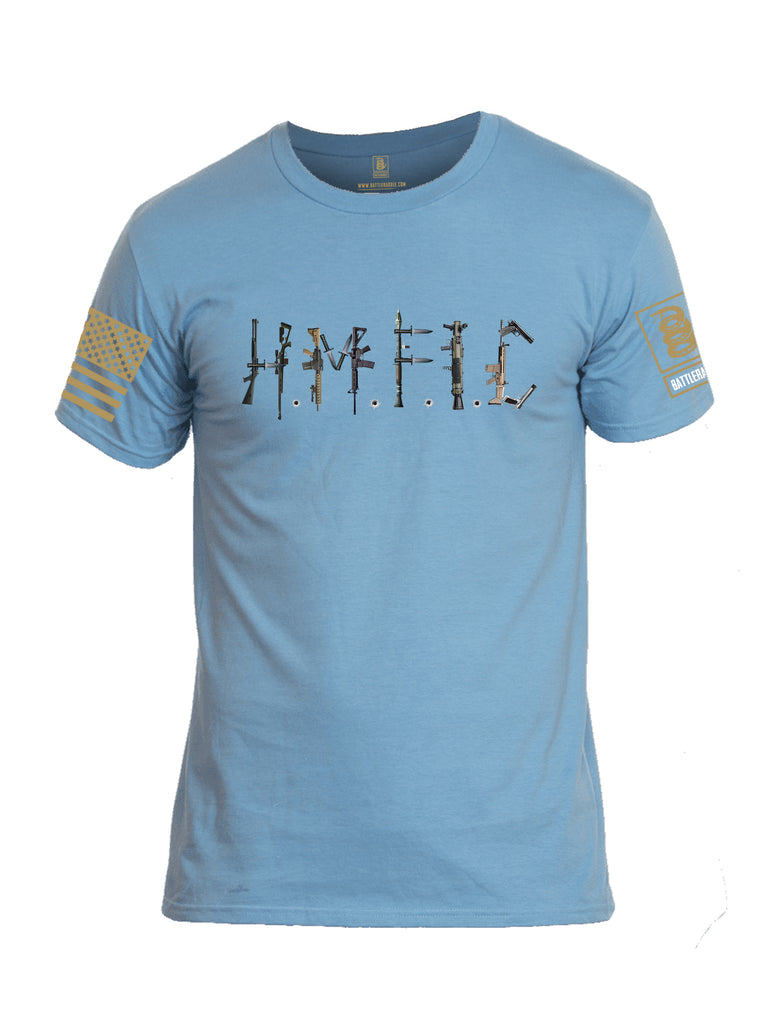 Battleraddle Hmfic Rifles {sleeve_color} Sleeves Men Cotton Crew Neck T-Shirt