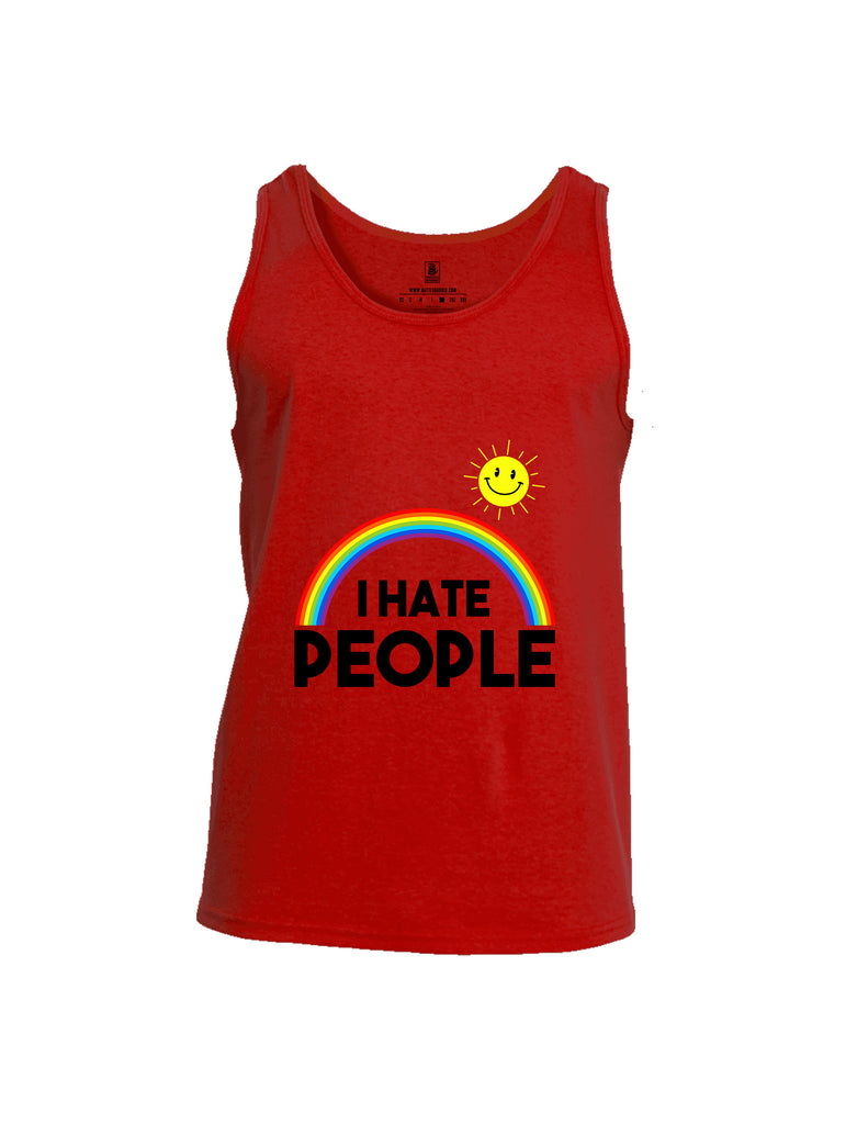 Battleraddle I Hate People {sleeve_color} Sleeves Men Cotton Cotton Tank Top