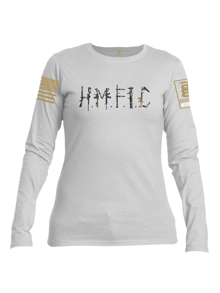 Battleraddle Hmfic Rifles {sleeve_color} Sleeves Women Cotton Crew Neck Long Sleeve T Shirt