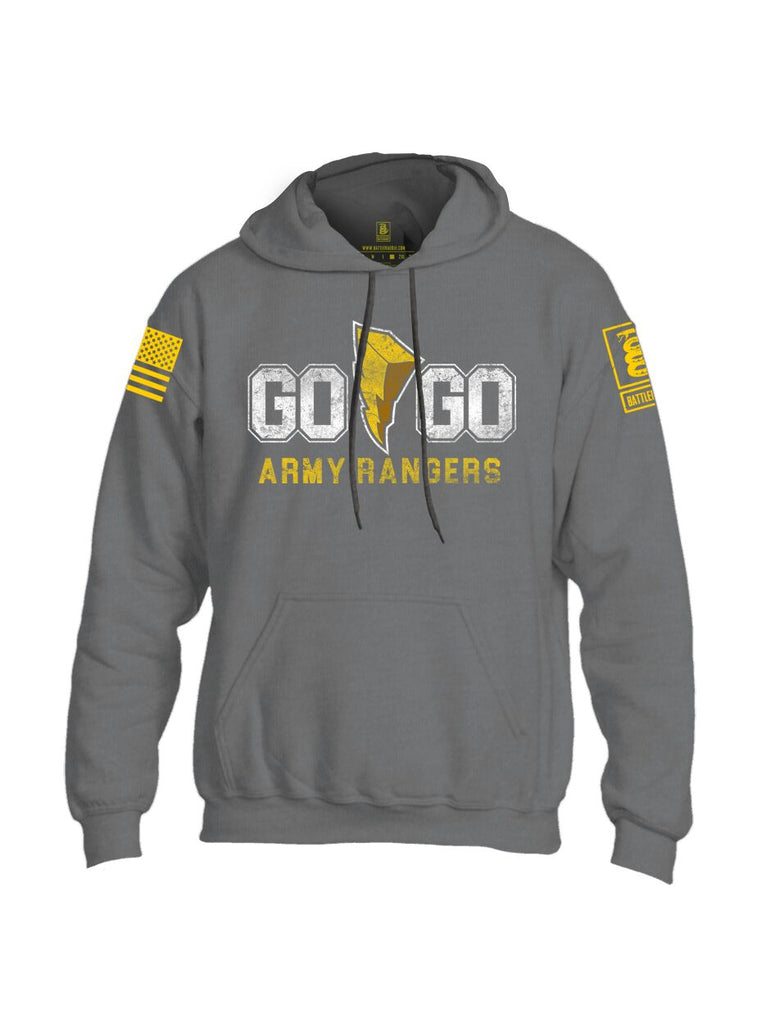 Battleraddle Go Go Army Rangers Yellow Sleeve Print Mens Blended Hoodie With Pockets