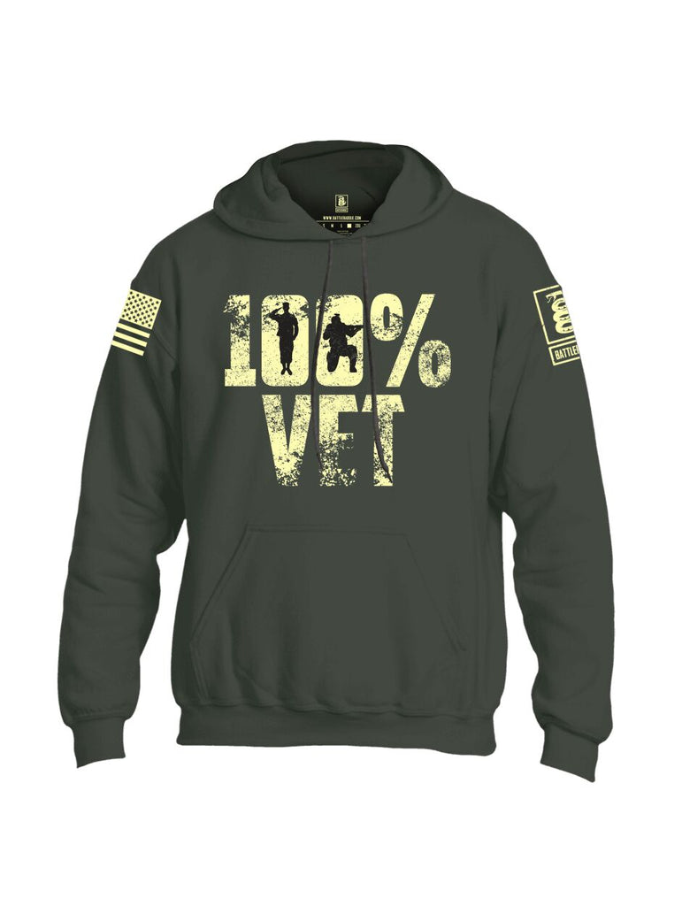 Battleraddle 100% Vet Light Yellow Sleeve Print Mens Blended Hoodie With Pockets - Battleraddle® LLC