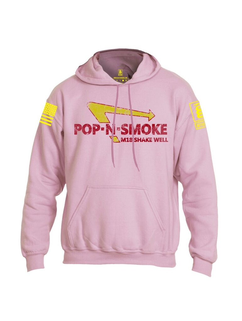 Battleraddle Pop-N-Smoke M18 Shake Well V2 Yellow Sleeve Print Mens Blended Hoodie With Pockets