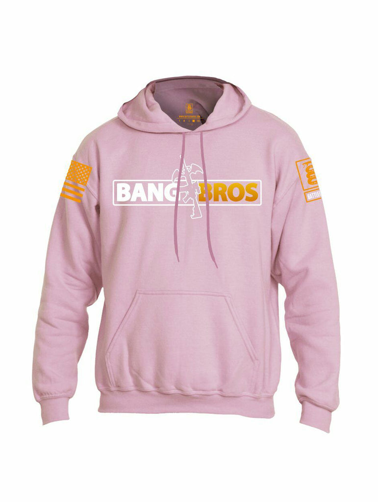 Battleraddle Bang AR15 Bros Orange Sleeve Print Mens Blended Hoodie With Pockets - Battleraddle® LLC