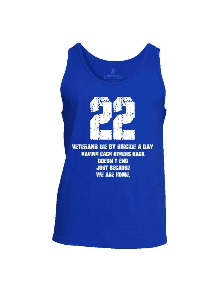 Battleraddle 22 Veterans Die By Suicide A Day Mens Cotton Tank Top shirt|custom|veterans|Apparel-Mens Tank Top-Cotton