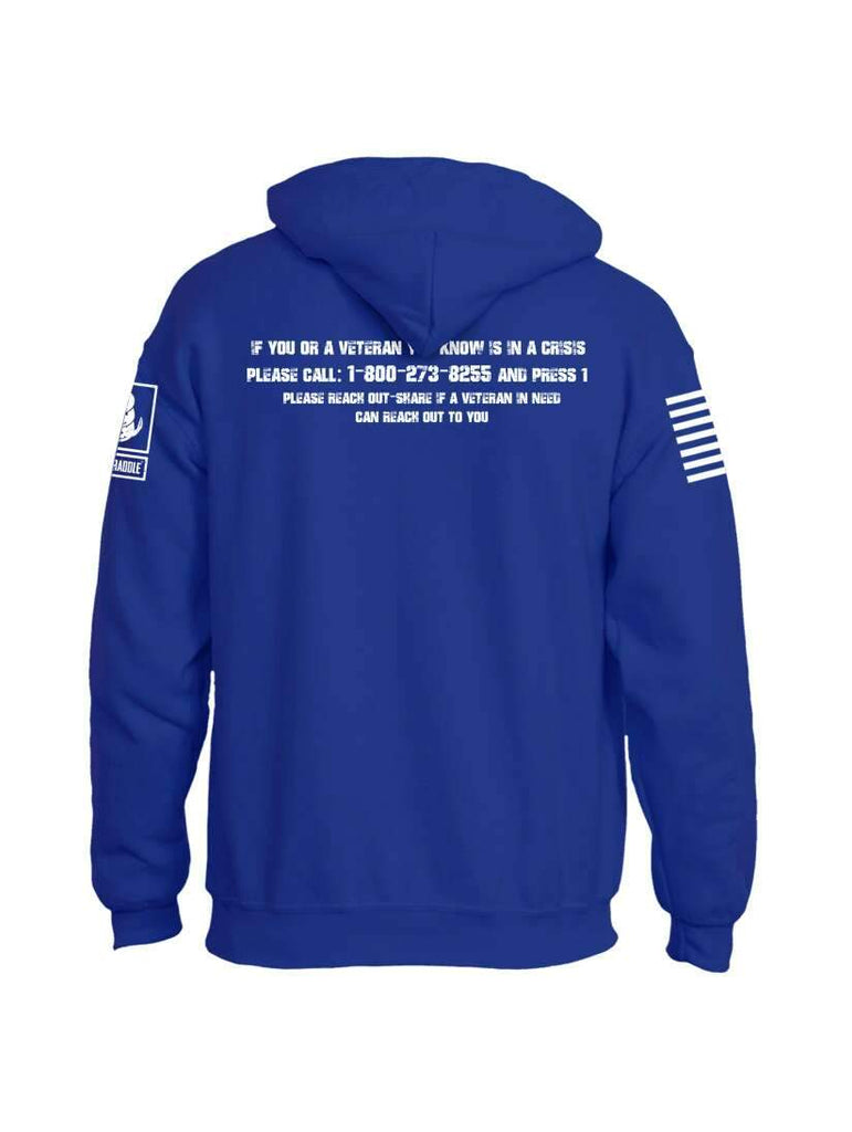 Battleraddle 22 Veterans Die By Suicide A Day White Sleeve Print Mens Blended Hoodie With Pockets shirt|custom|veterans|Apparel-Mens Hoodies-Cotton/Dryfit Blend