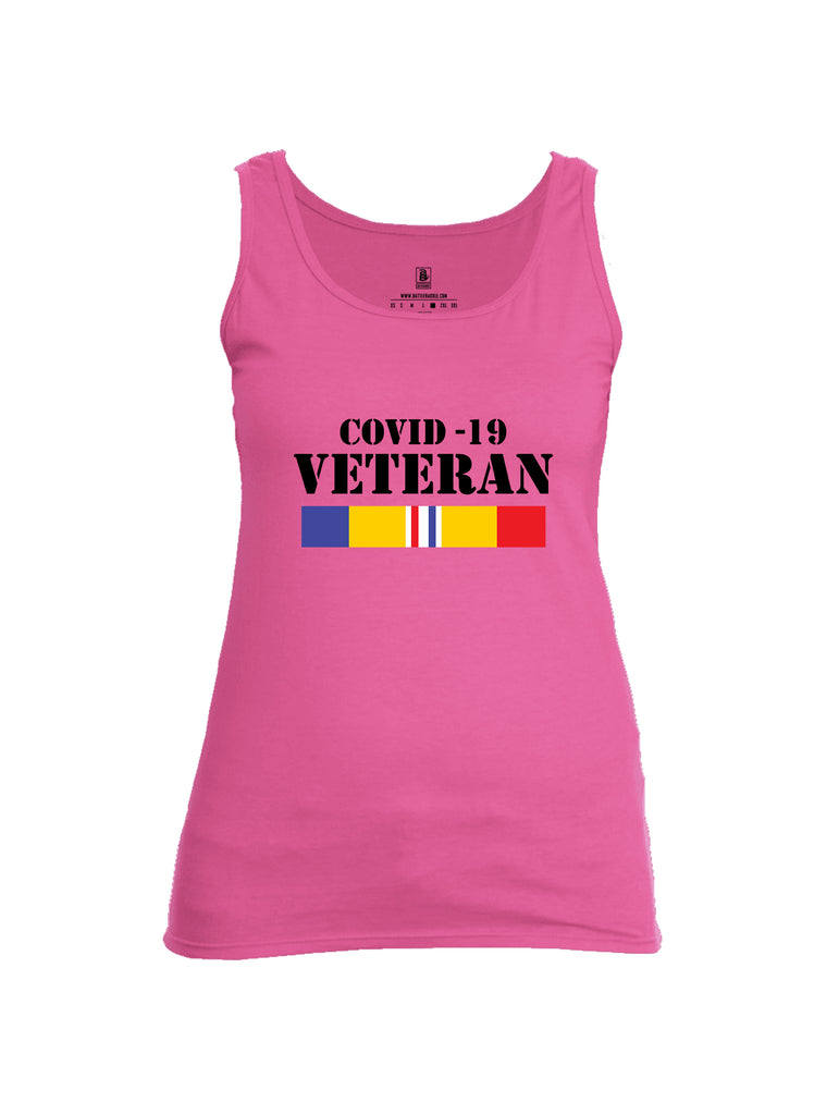 Battleraddle Covid 19 Veteran {sleeve_color} Sleeves Women Cotton Cotton Tank Top
