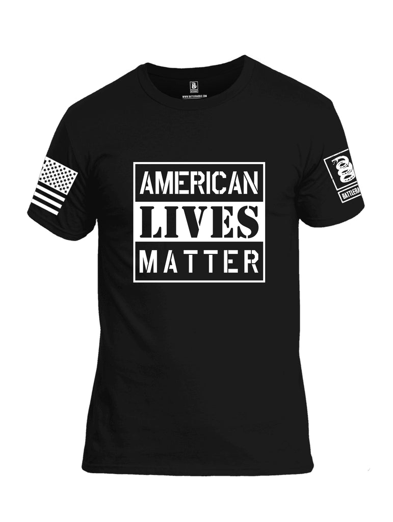 Battleraddle American Lives Matter Men Cotton Crew Neck T-Shirt