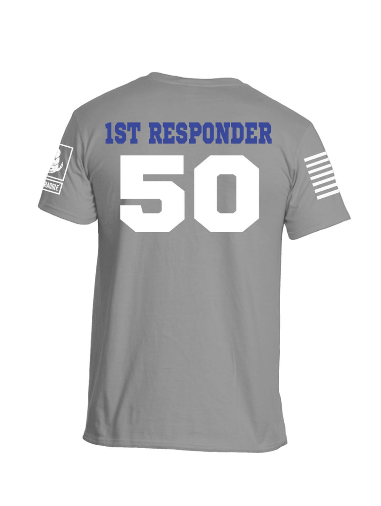 Battleraddle Blue Bloods 1st Responder 50 Jersey White Sleeve Print Mens Cotton Crew Neck T Shirt - Battleraddle® LLC