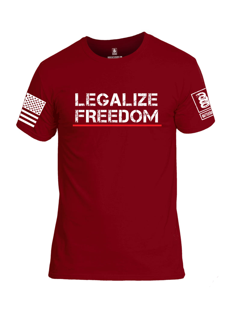 Battleraddle Legalize Freedom Men Cotton Crew Neck T-Shirt