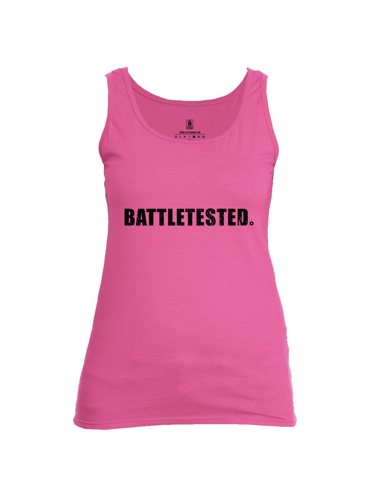 Battleraddle Battletested Black {sleeve_color} Sleeves Women Cotton Cotton Tank Top