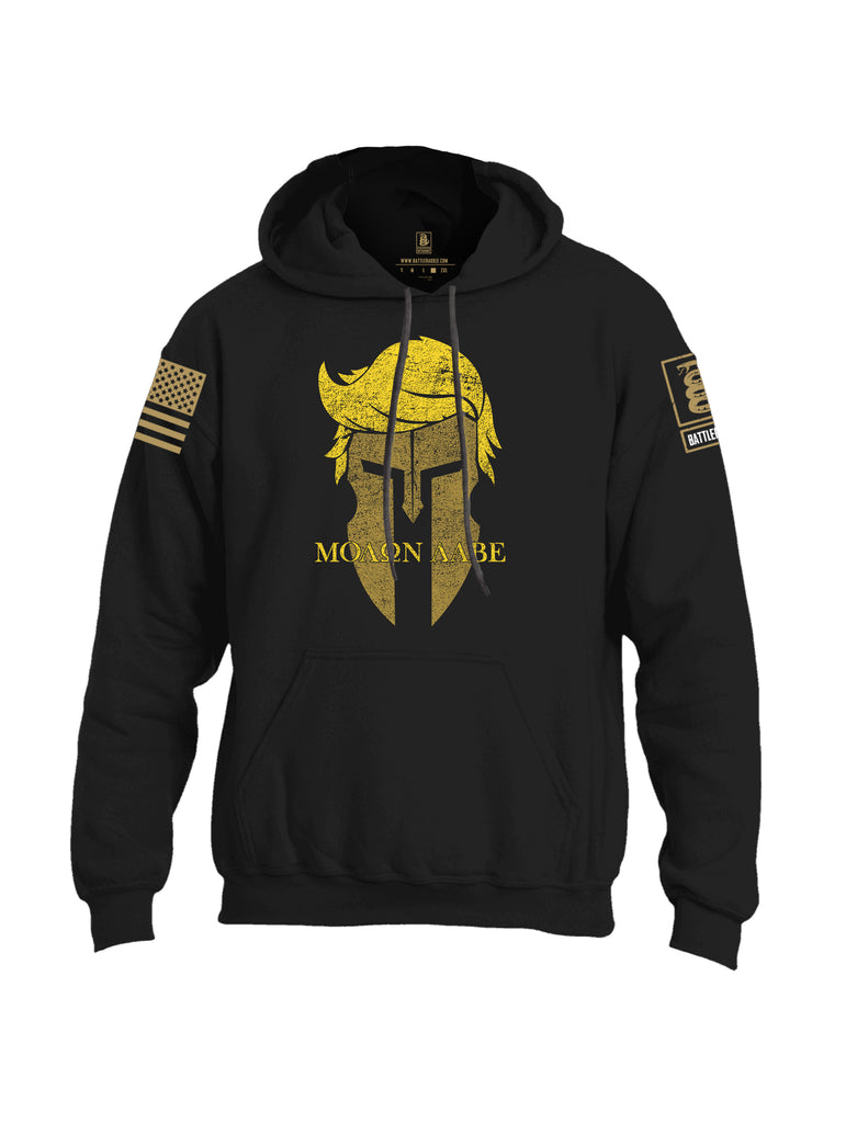 Battleraddle Trump Spartan Molon Labe {sleeve_color} Sleeves Uni Cotton Blended Hoodie With Pockets