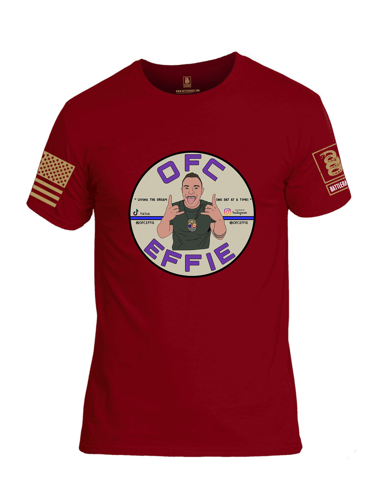 Battleraddle Ofc Effie {sleeve_color} Sleeves Men Cotton Crew Neck T-Shirt