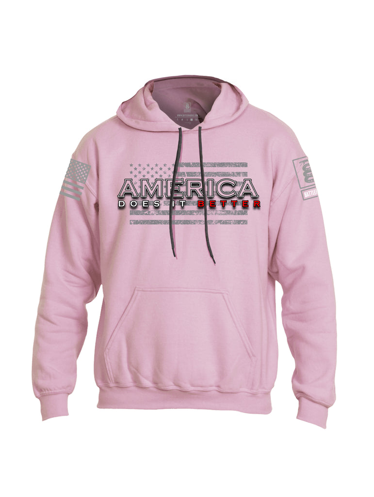 Battleraddle America Does It Better {sleeve_color} Sleeves Uni Cotton Blended Hoodie With Pockets