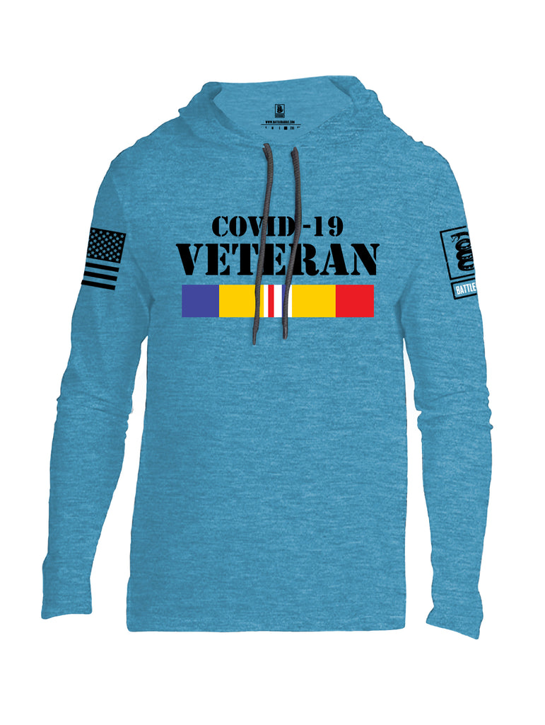 Battleraddle Covid 19 Veteran {sleeve_color} Sleeves Men Cotton Thin Cotton Lightweight Hoodie