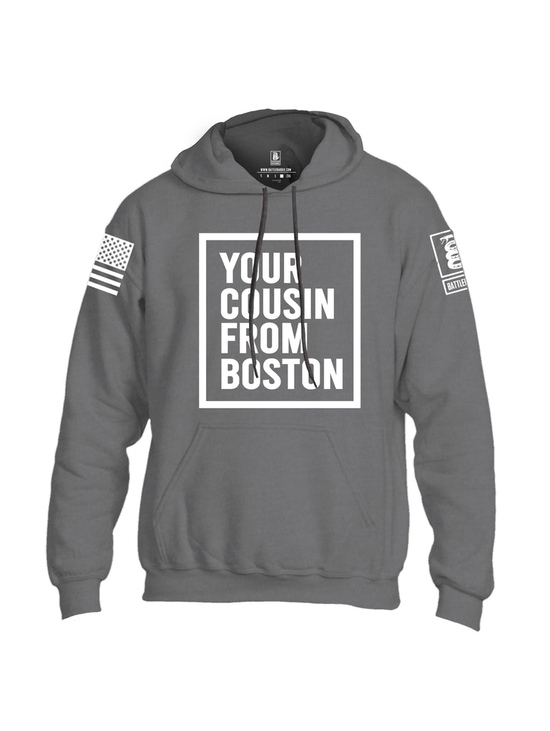 Battleraddle Your Cousin From Boston {sleeve_color} Sleeves Uni Cotton Blended Hoodie With Pockets