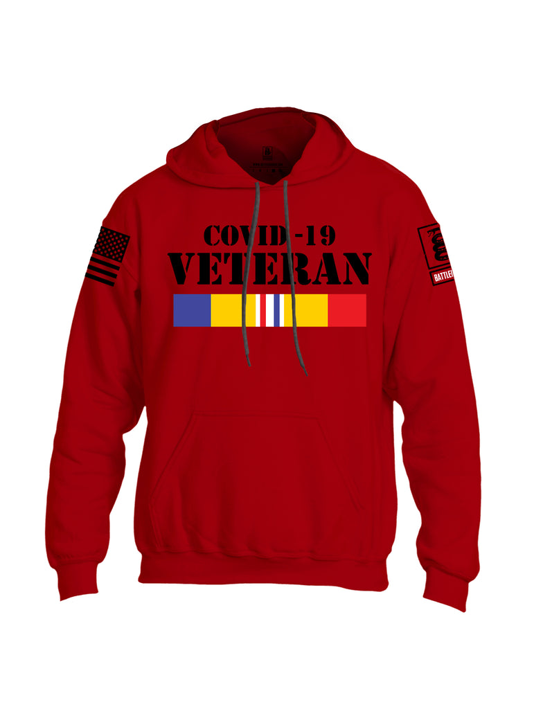 Battleraddle Covid 19 Veteran {sleeve_color} Sleeves Uni Cotton Blended Hoodie With Pockets