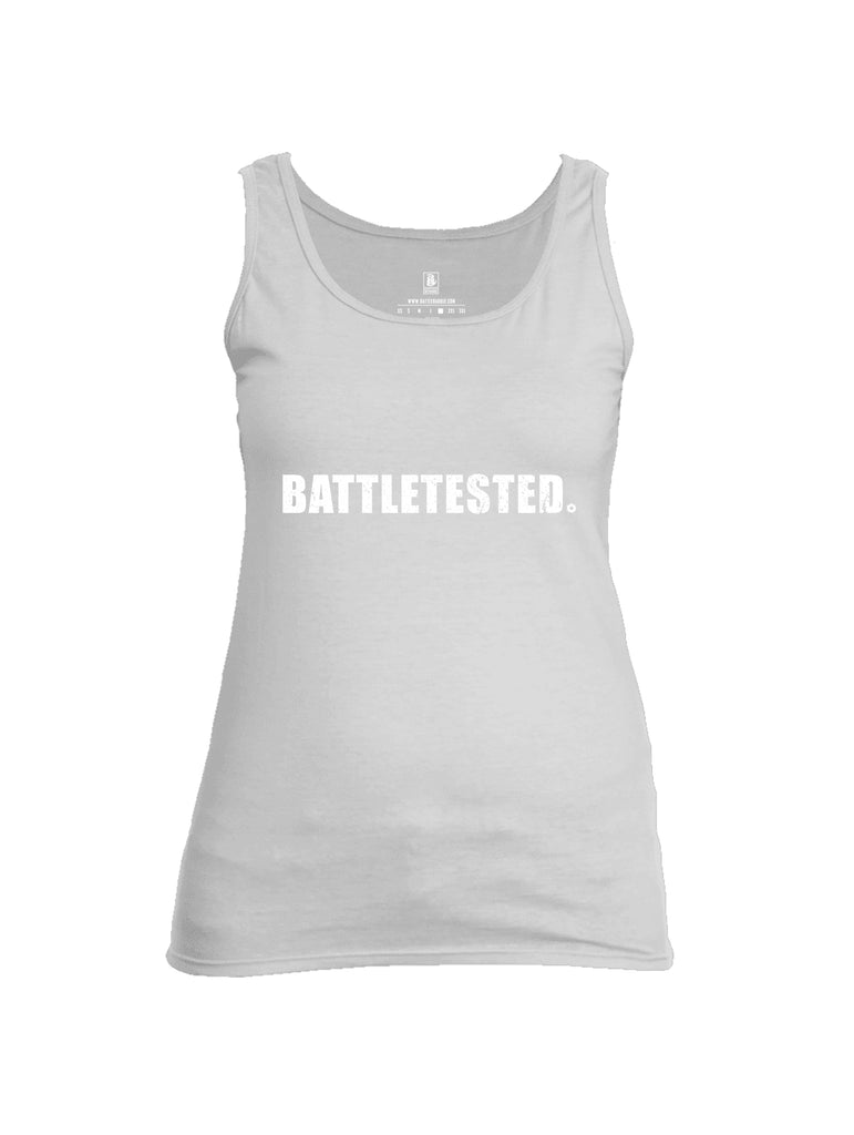 Battleraddle Battletested White {sleeve_color} Sleeves Women Cotton Cotton Tank Top