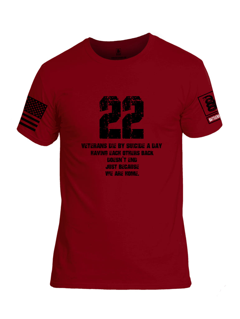 Battleraddle 22 A Day Black {sleeve_color} Sleeves Men Cotton Crew Neck T-Shirt