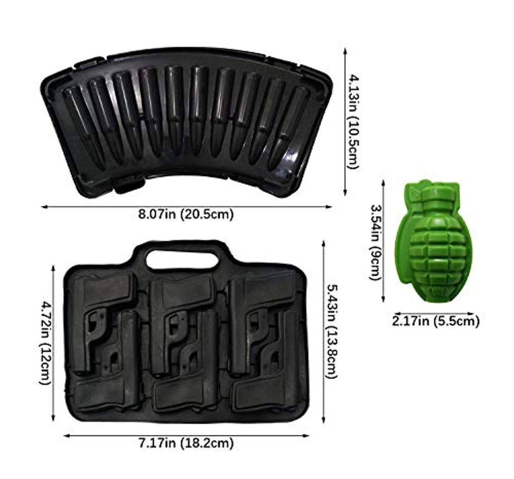 Battleraddle Grenade Ice Tray Handgun Mold shirt|custom|veterans|DSI