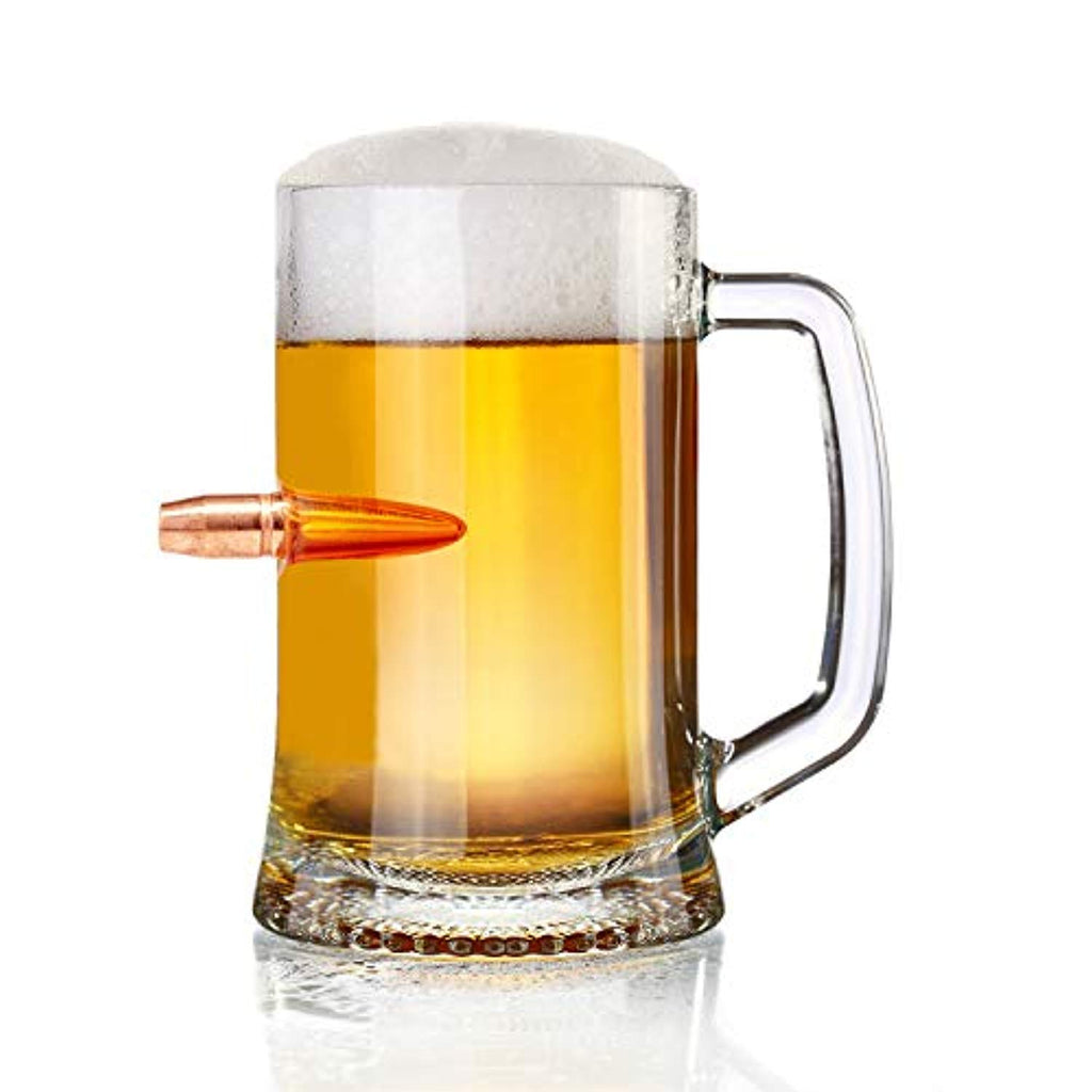 Battleraddle .50 Cal Authentic Bullet Casing Projectile Beer Mug Super Chill Time Handle