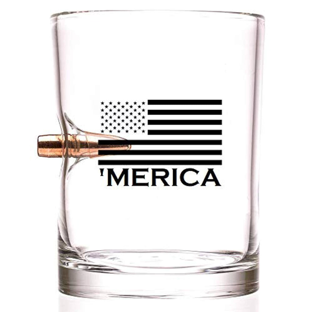 Battleraddle MERICA - .308 Real Solid Copper Old Fashioned Whiskey Rocks Glass shirt|custom|veterans|DSI