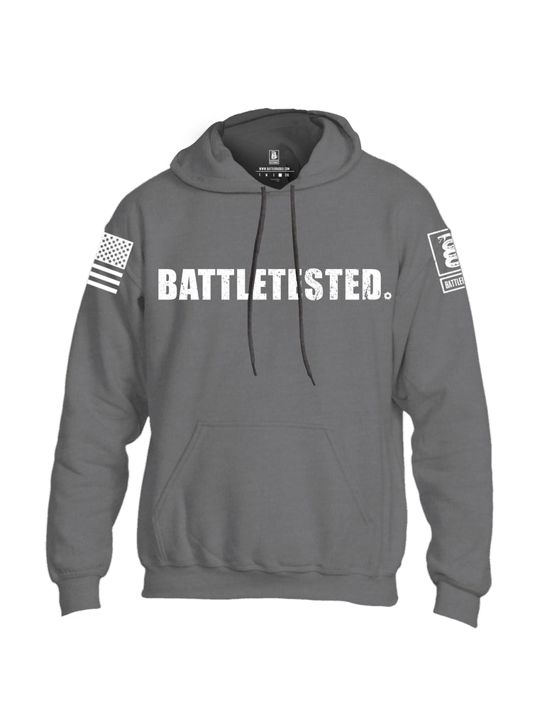 Battleraddle Battletested White {sleeve_color} Sleeves Uni Cotton Blended Hoodie With Pockets