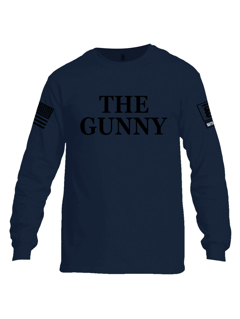 Battleraddle The Gunny {sleeve_color} Sleeves Men Cotton Crew Neck Long Sleeve T Shirt
