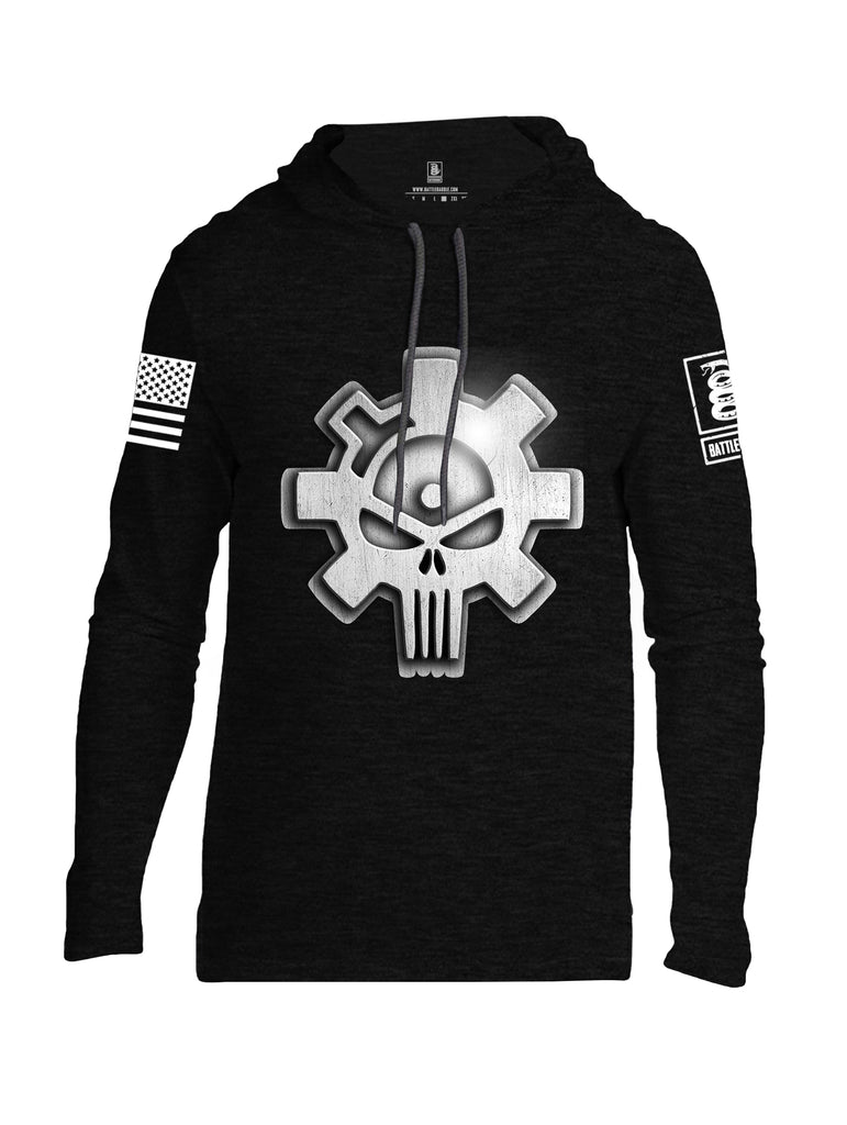 Battleraddle Superpatriot Heavy Duty Ar15 Bolt Expounder Skull Men Cotton Thin Cotton Lightweight Hoodie