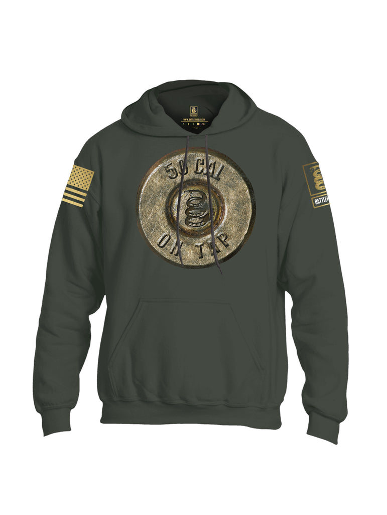 Battleraddle 50 Cal On Tap Brass Sleeve Print Mens Blended Hoodie With Pockets