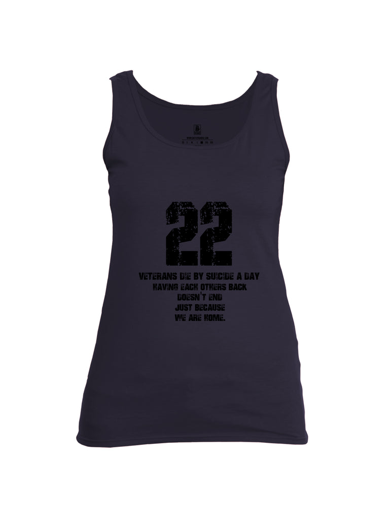 Battleraddle 22 A Day Black {sleeve_color} Sleeves Women Cotton Cotton Tank Top