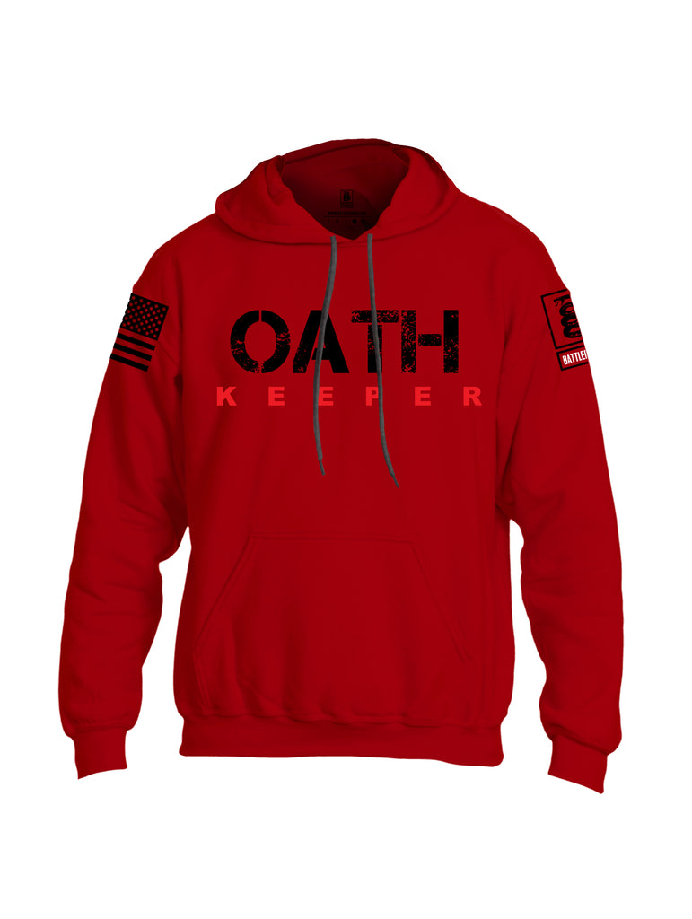 Battleraddle Oath Keeper Black {sleeve_color} Sleeves Uni Cotton Blended Hoodie With Pockets