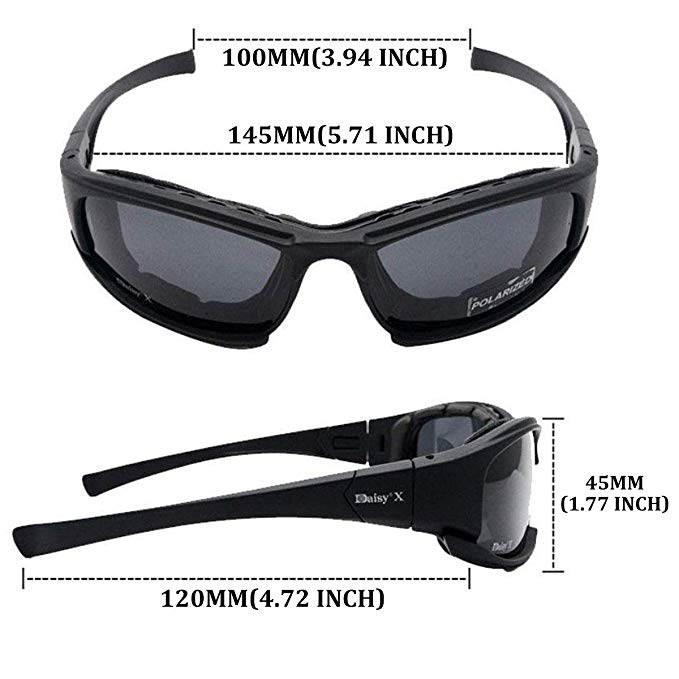 Battleraddle Tactical Polarized Sunglasses with 4 Interchangeable Lens