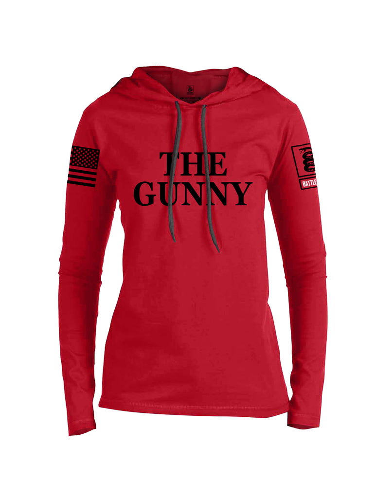 Battleraddle The Gunny {sleeve_color} Sleeves Women Cotton Thin Cotton Lightweight Hoodie