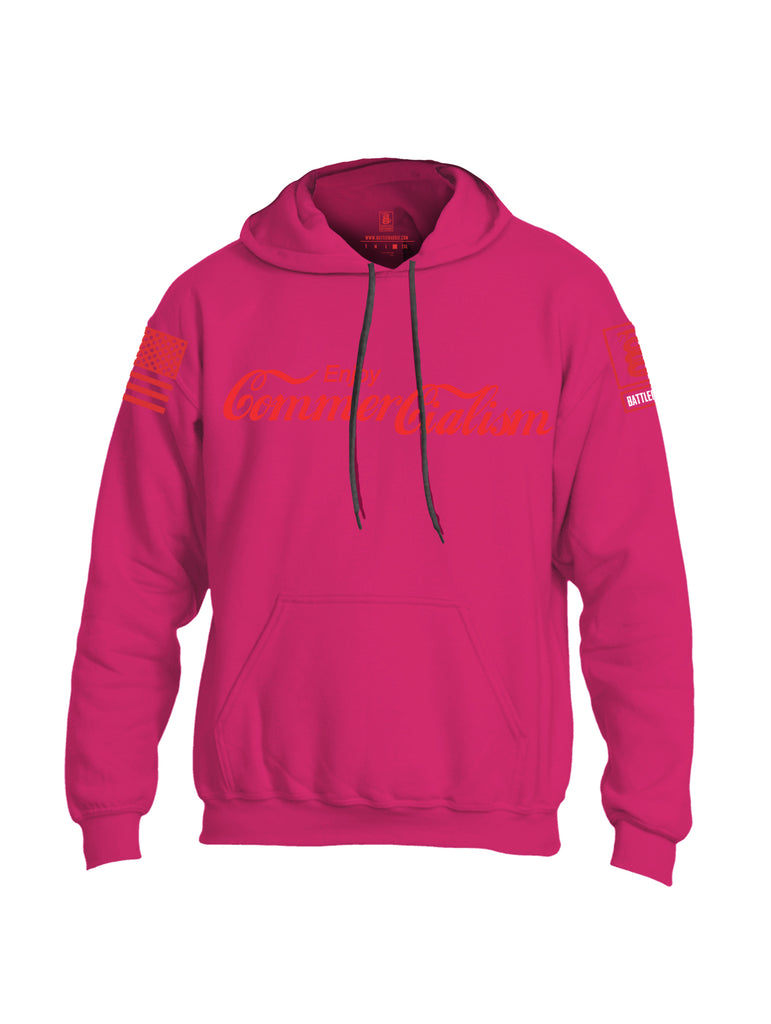 Battleraddle Enjoy Commercialism {sleeve_color} Sleeves Uni Cotton Blended Hoodie With Pockets